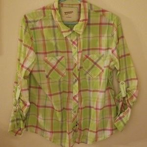 Tops - Arizona jean co plaid button up